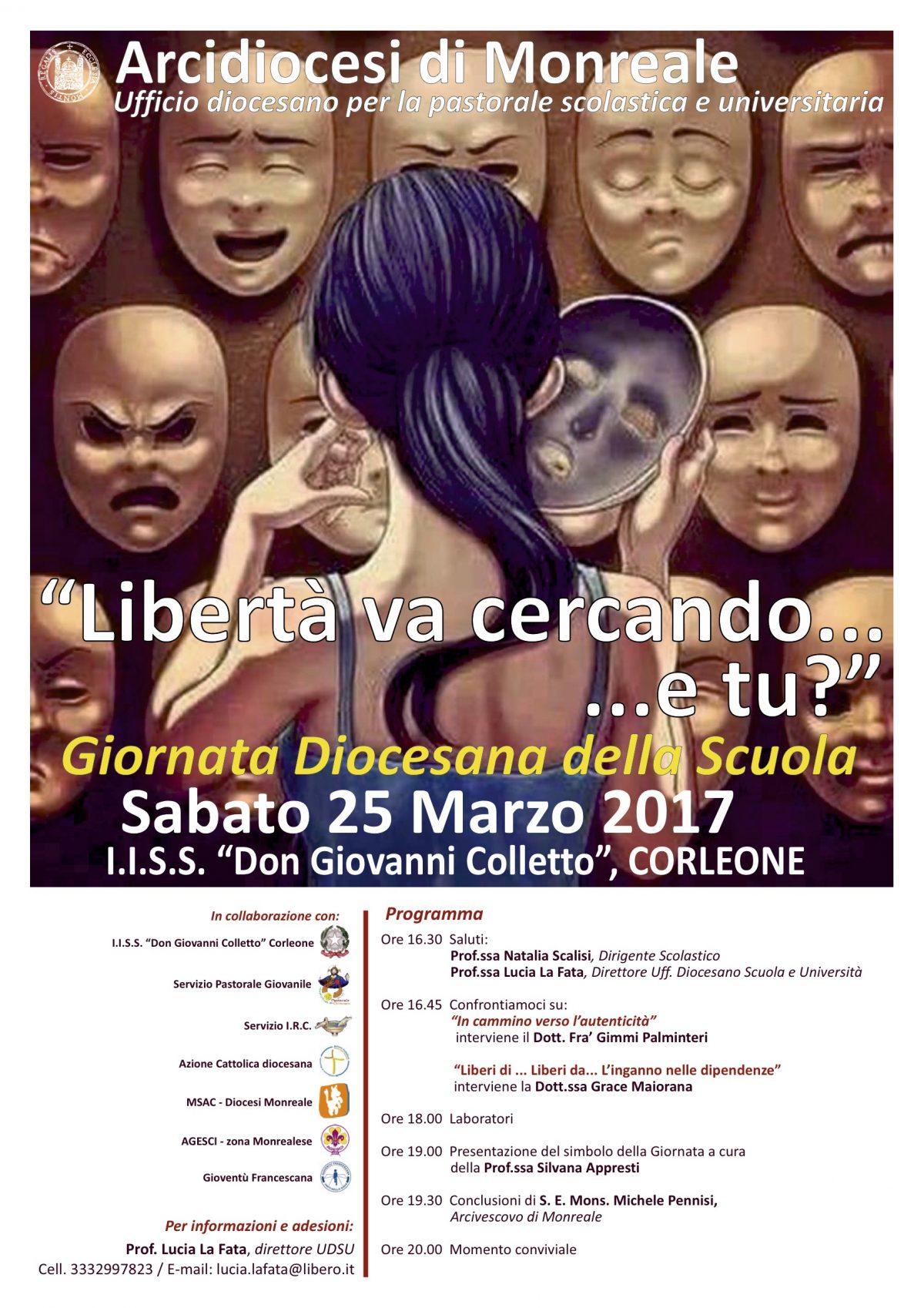 IV Giornata Diocesana della Scuola – Corleone 25 marzo 2017