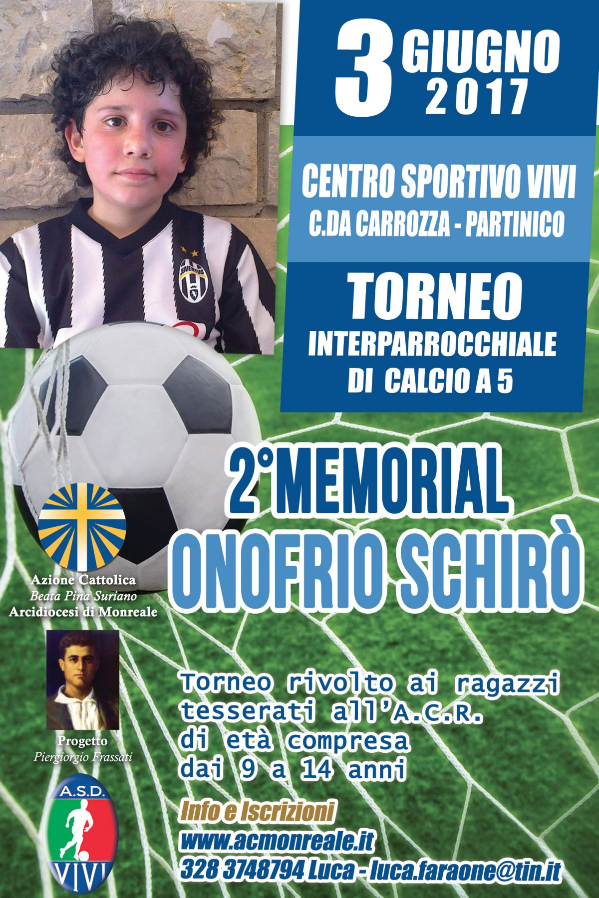 """2° Memorial """"Onofrio Schirò"""" – Partinico, 3 Giugno 2017"""