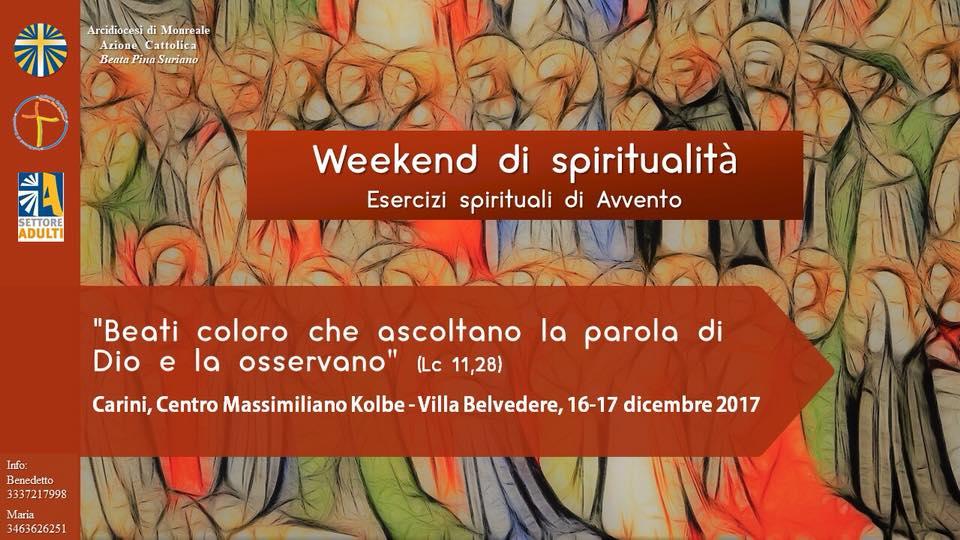 Weekend di spiritualità. Carini 16-17 dicembre 2017