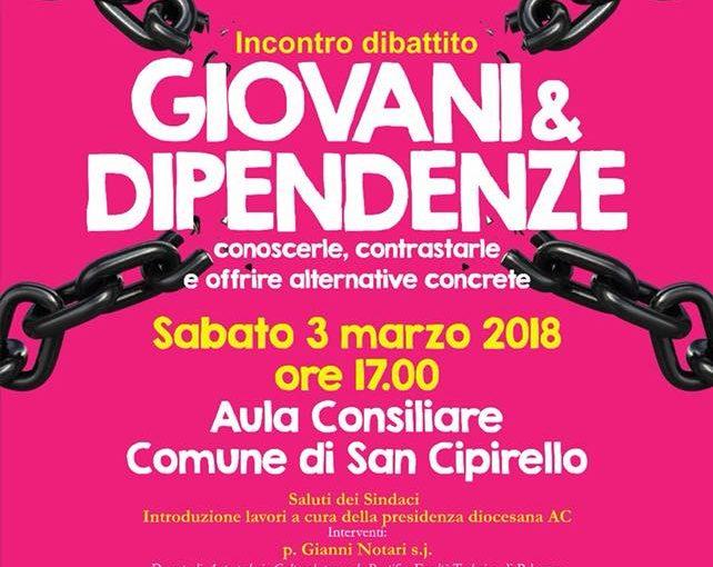 """Incontro dibattito """"Giovani & dipendenze – conoscerle, contrastarle e offrire alternative concrete"""""""