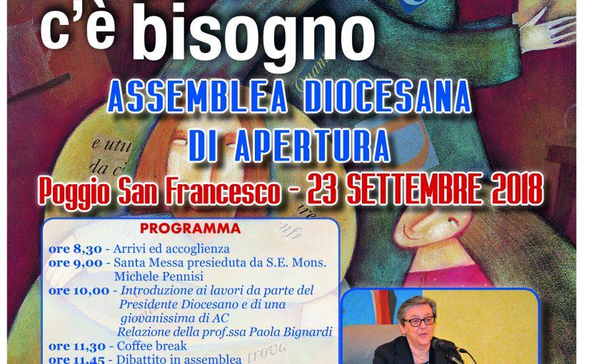 Assemblea Diocesana di apertura – Poggio San Francesco, 23 Settembre