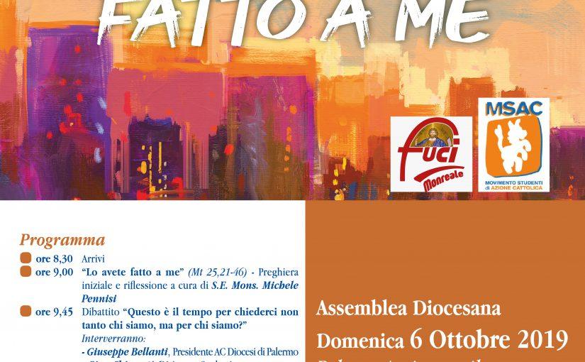 Assemblea di apertura anno associativo 2019/2020 e avvio cammino assembleare. Palazzo Arcivescovile, 06 Ottobre 2019 – Monreale